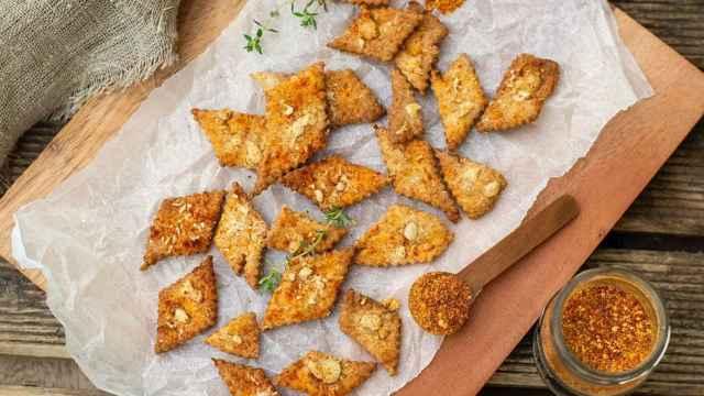 Galletas saladas de pimentón, receta de crespillos murcianos