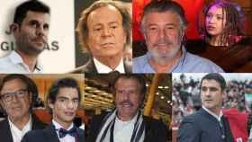 Julio Iglesias, Francisco, Pepe Navarro, Edmundo Arrocet y Jesulín de Ubrique en montaje de JALEOS.