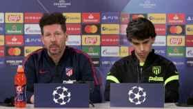Diego 'Cholo' Simeone y Joao Félix, en rueda de prensa