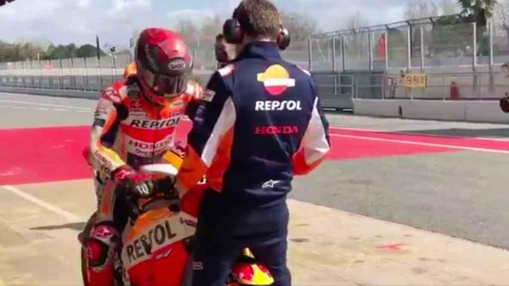 Marc Márquez se vuelve a subir a una Honda