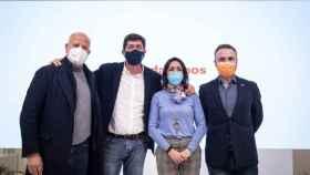 Javier Imbroda, Juan Marín, Marta Bosquet y Guillermo Díaz tras la Ejecutiva nacional de Cs.