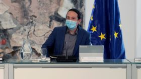 Pablo Iglesias en su primer Consejo de Ministros tras anunciar que abandona el Gobierno.