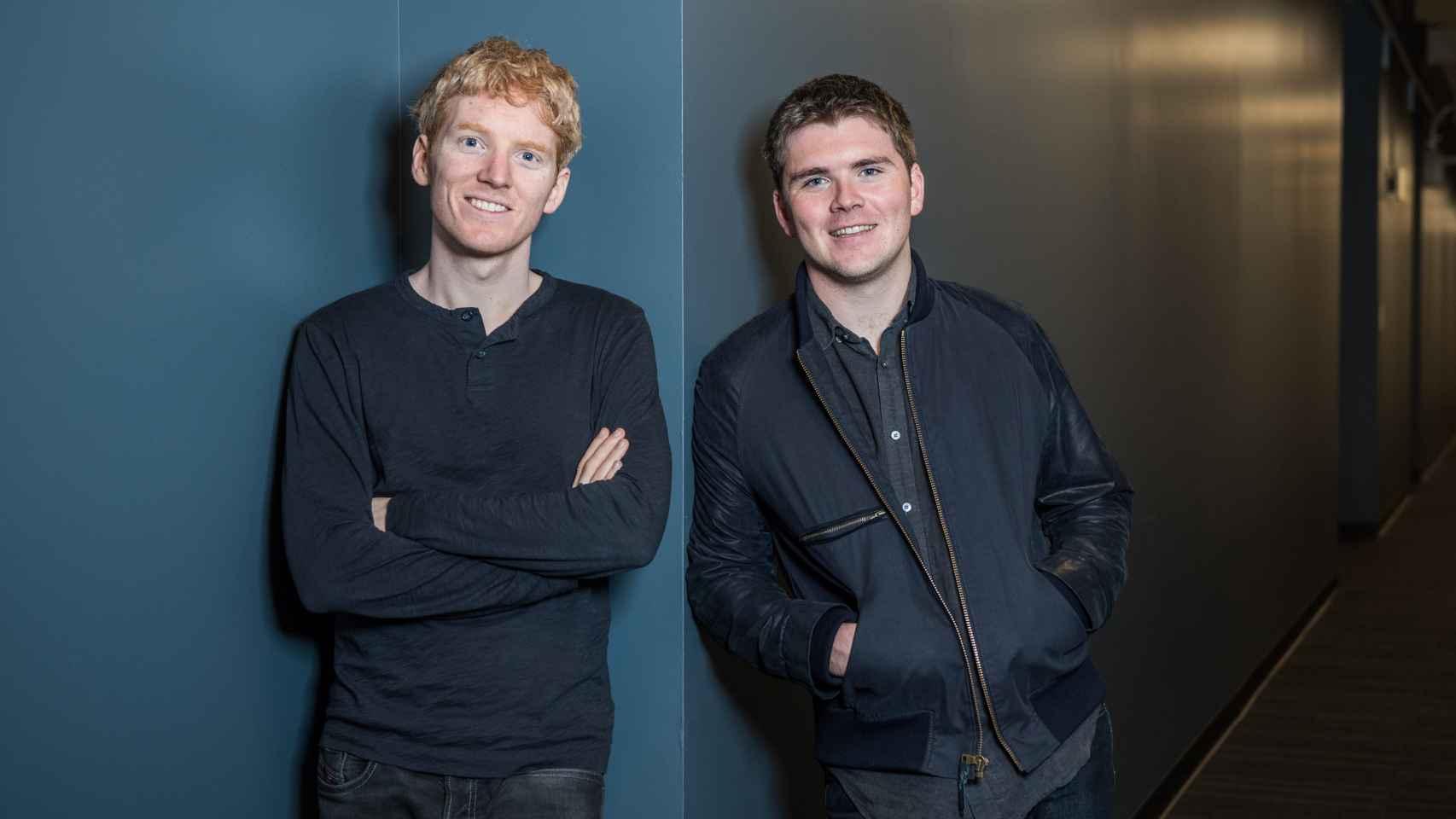 Patrick y John Collison, fundadores de Stripe.