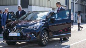 El Rey Felipe durante la última visita del monarca a Renault en la planta de Valladolid.