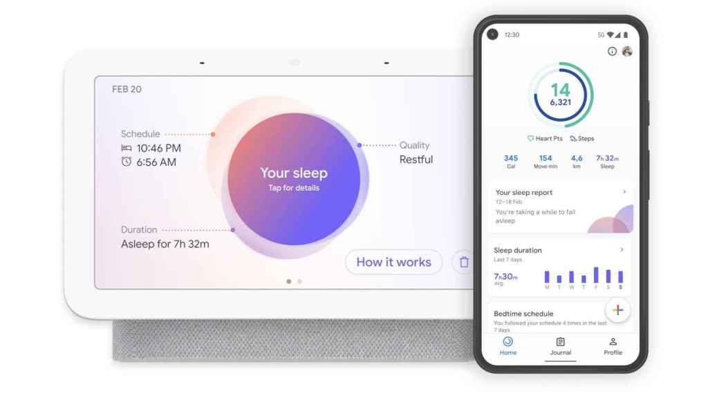 Registro del sueño en el Google Nest Hub
