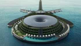 Un hotel flotante y ecológico para dormir sobre el agua del mar.