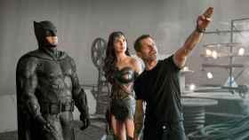 Zack Snyder en el rodaje de 'La liga de la justicia'.