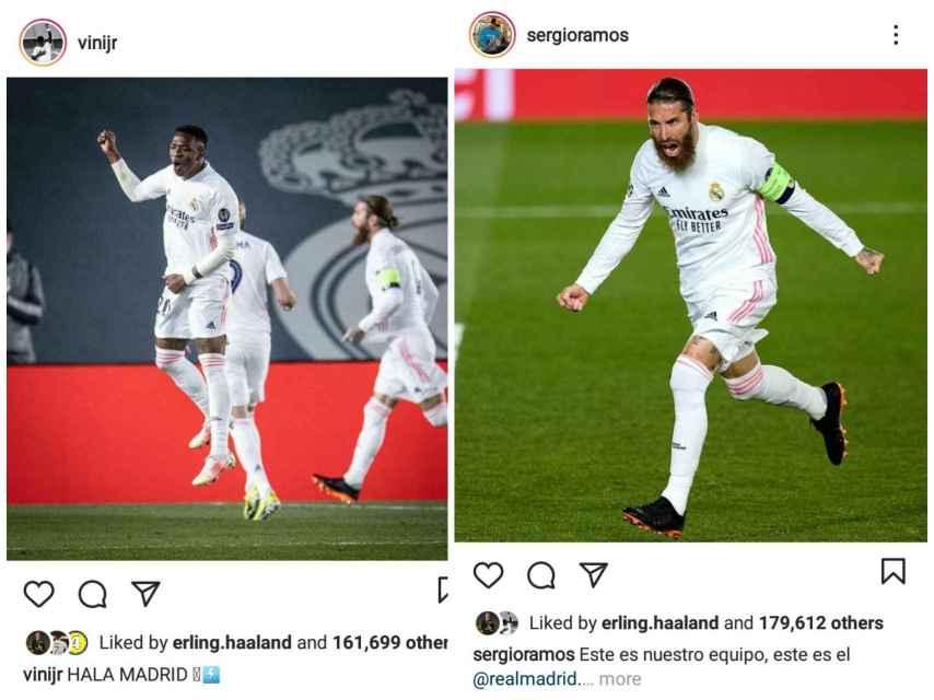 Los 'likes' de Haaland al Real Madrid