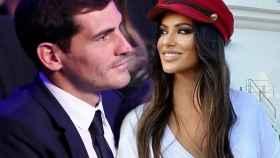 Iker Casillas y Sara Denez en un montaje de JALEOS.