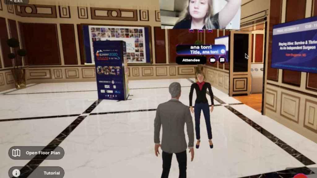 Otro de los entornos virtuales de YouCan, orientado a un evento profesional