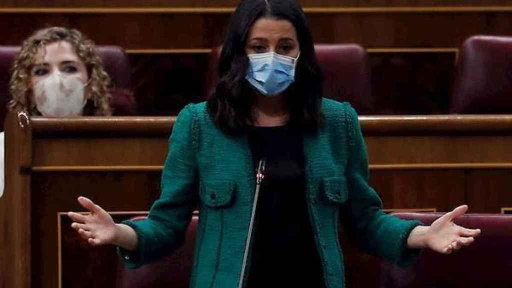 La líder de Ciudadanos, Inés Arrimadas, en el Congreso de los Diputados.
