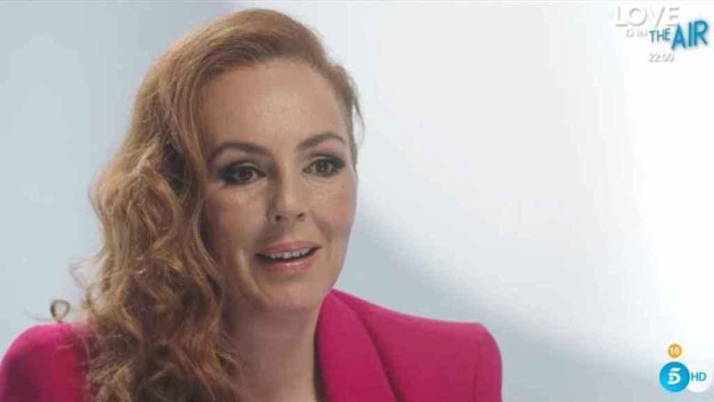 Rocío Carrasco durante la grabación de 'Rocío: contar la verdad para seguir viva'.