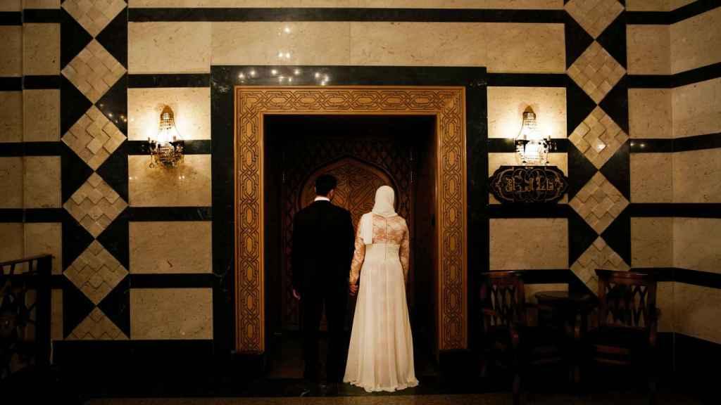 Imagen de archivo de una boda celebrada en El Cairo en agosto de 2015.