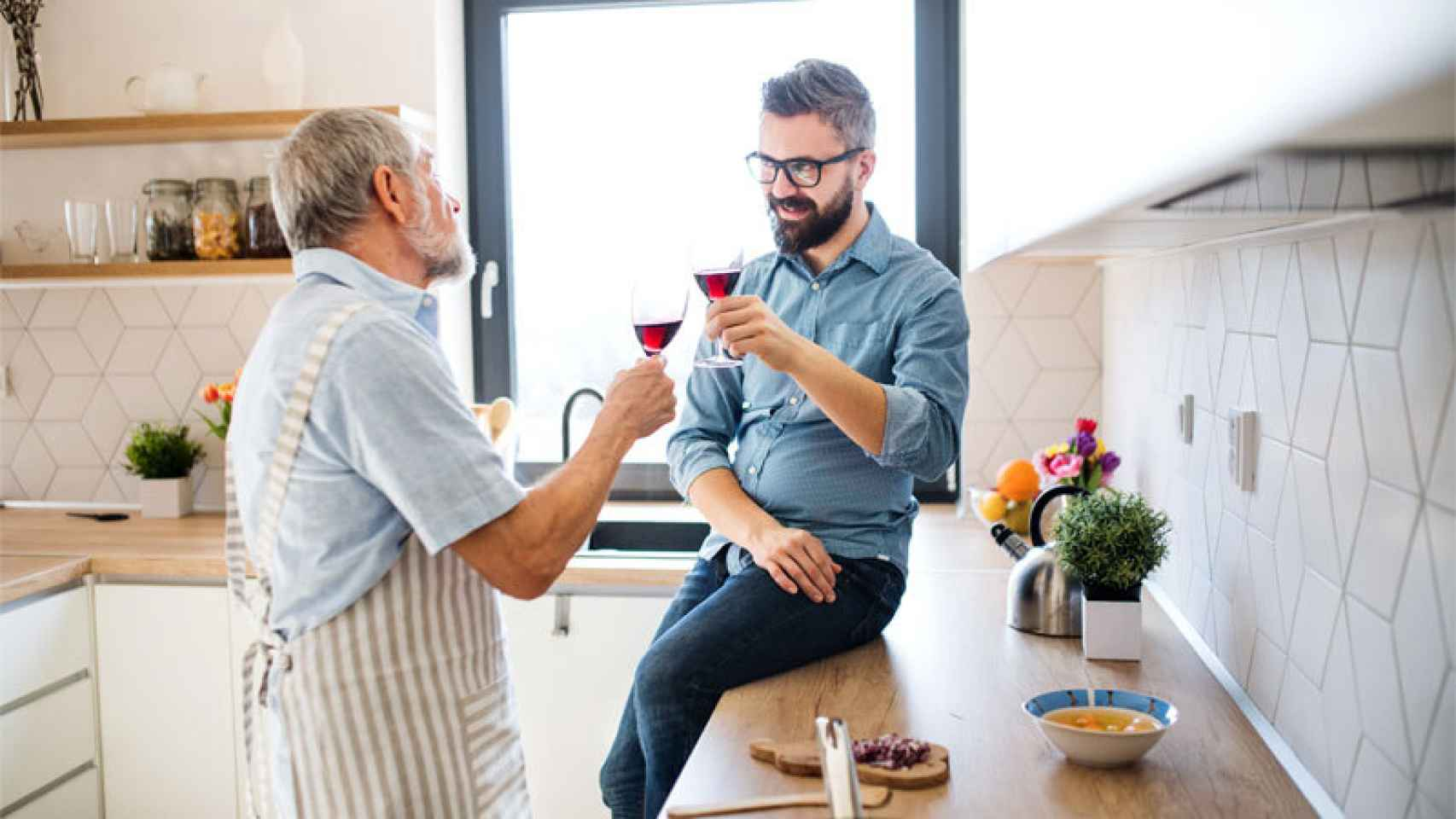 El vino es el mejor regalo para el Día del Padre.