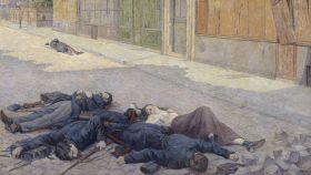 'Una calle en París en mayo de 1871', lienzo de Maximilien Luce.