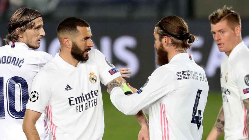 Modric, Benzema, Sergio Ramos y Benzema