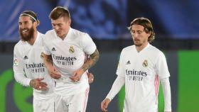 Sergio Ramos, Kroos y Modric