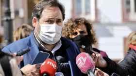 Paco Núñez, presidente del PP de Castilla-La Mancha, este miércoles en Tomelloso