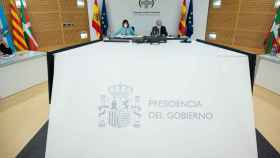 Carolina Darias y Miquel Iceta en el Consejo Interterritorial del Sistema Nacional de Salud.