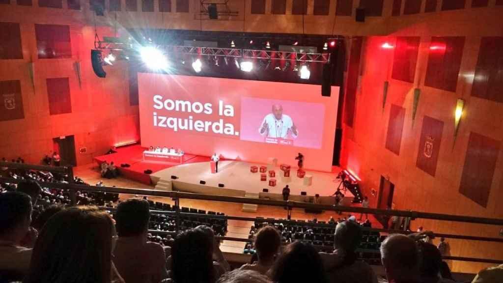Luis Ángel Hierro en la ponencia económica en el congreso del PSOE.