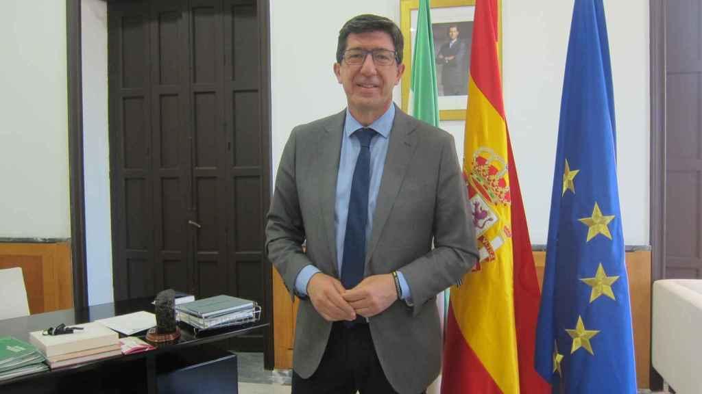 El vicepresidente de la Junta de Andalucía y líder de Cs, Juan Marín.
