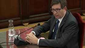 Carles Mundó, durante su declaración en el Tribunal Supremo./