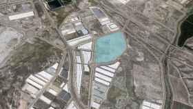 Imagen aérea de la parcela donde se instalará Becton Dickinson.
