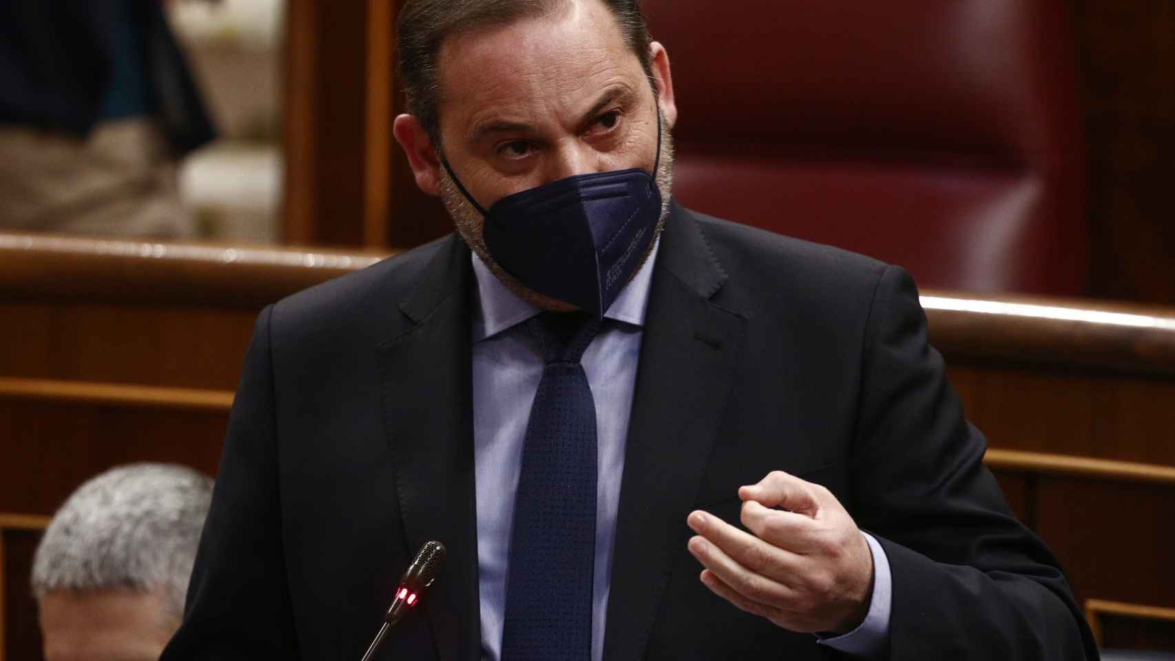 José Luis Ábalos, ministro de Transportes, Movilidad y Agenda Urbana, en el Congreso.