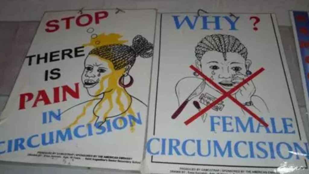 Imagen de archivo de una campaña contra la mutilación genital femenina.