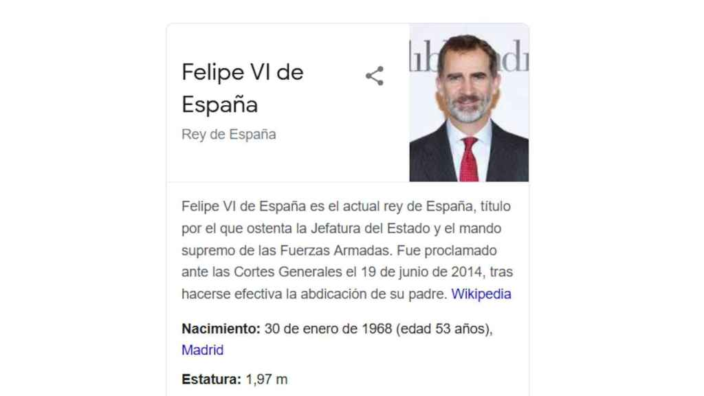 Google es uno de los servicios que obtiene datos de la Wikipedia