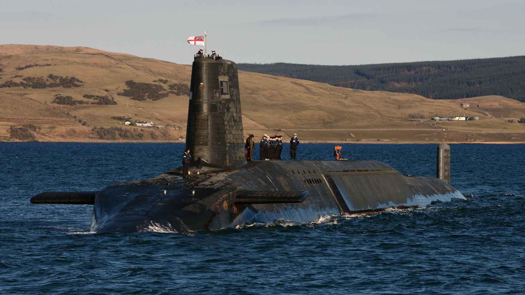 HMS Victorious perteneciente a la clase Vanguard