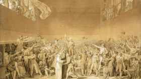 El juramento del juego de la pelota, de Jacques-Louis David (1791).