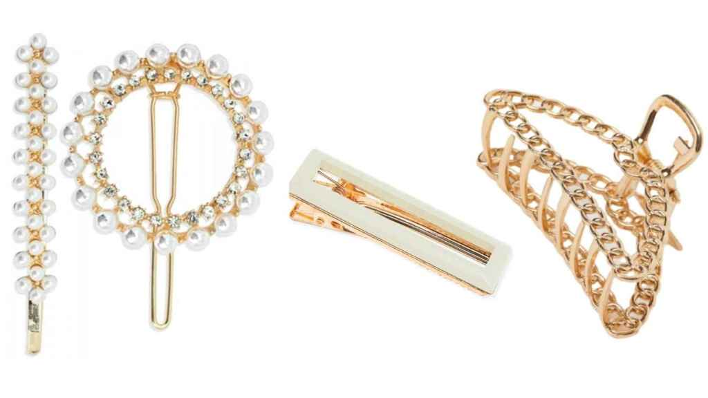 Hairpins and barrettes become one of the most popular accessories this season.