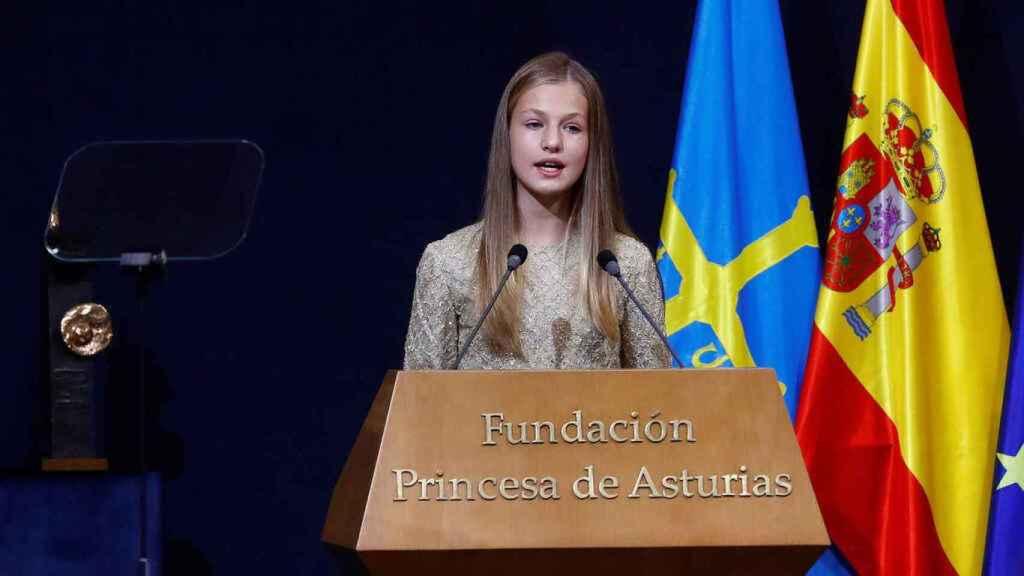 Leonor en su discurso de los Premios Princesa de Asturias.