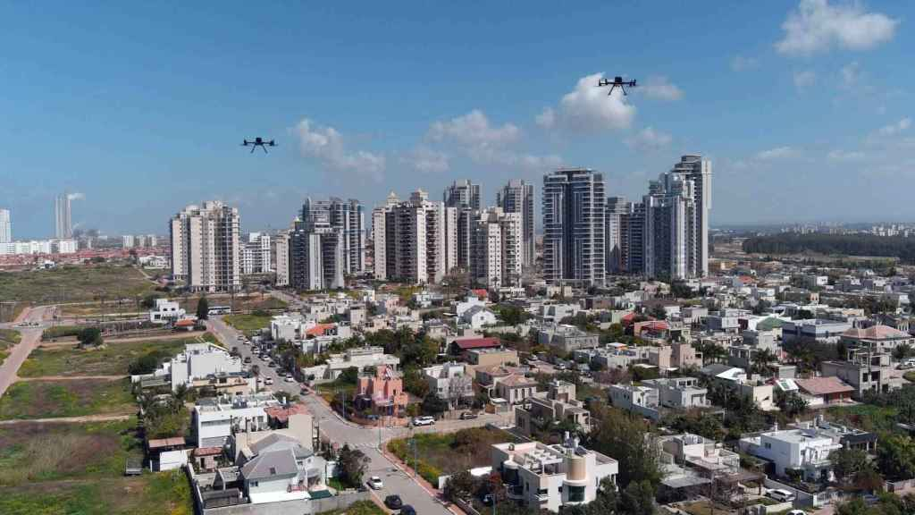 Drones sobre Hadera