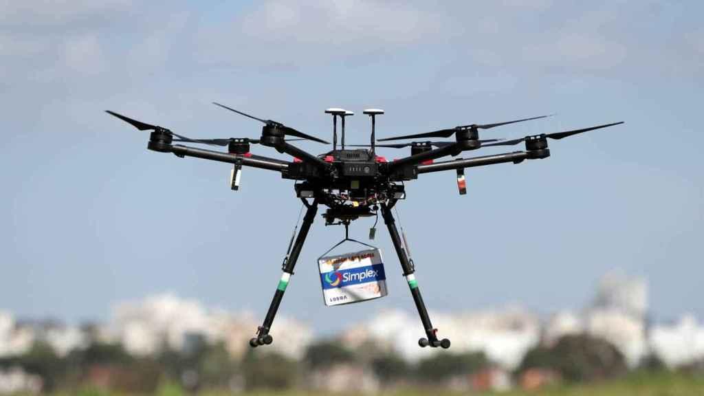 Dron de reparto en Hadera