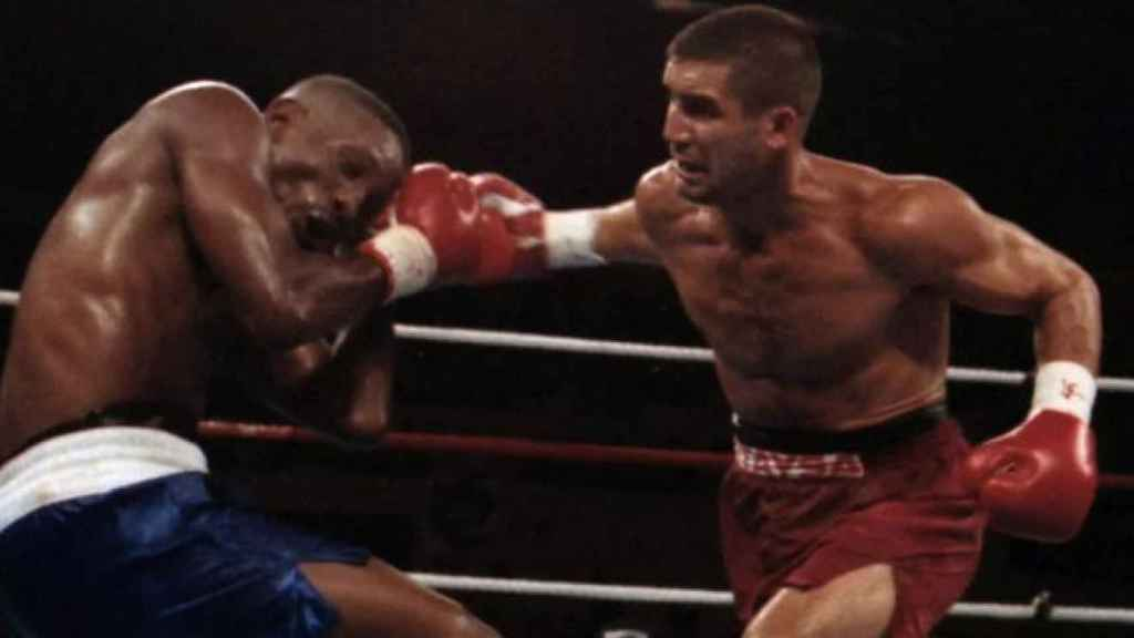 Poli Díaz, en su pelea contra Pernell Whitaker