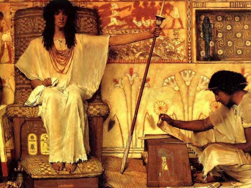 'José, supervisor de Graneros del Faraón', por Lawrence Alma Tadema (1873).