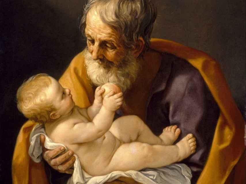 San José y el niño Jesús, por Guido Reni.