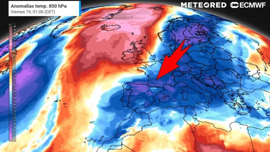 La entrada de aire frío desde Europa y las anomalías de temperaturas con las que arranca la primavera. METEORED