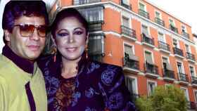 Isabel Pantoja y Juan Gabriel con el piso de Augusto Figueroa en un montaje de Jaleos.