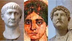 Trajano, Egeria y Adriano.