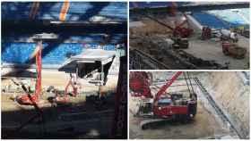 Obras en el interior del Santiago Bernabéu