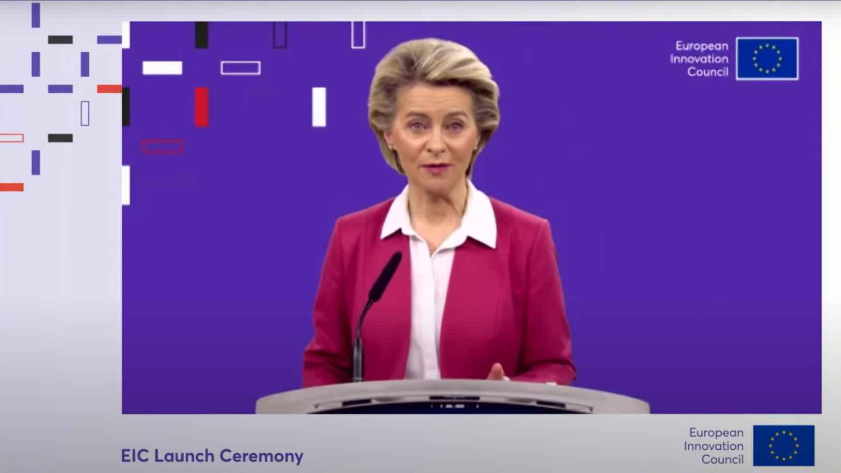 La presidenta de la CE, Ursula von der Leyen, presenta el 'nuevo' Consejo Europeo de Innovación