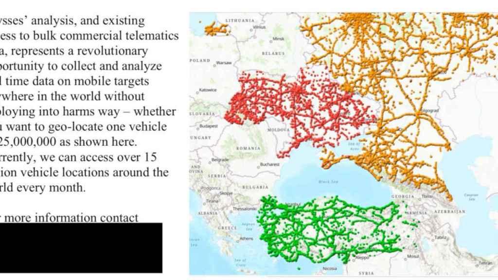 Posición registrada de coches en Europa del Este, según Ulysses Group