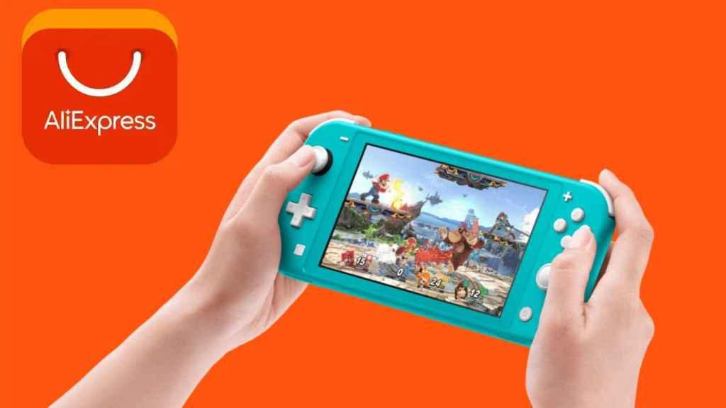 La Nintendo Switch Lite se puede comprar por 2 euros en AliExpress.