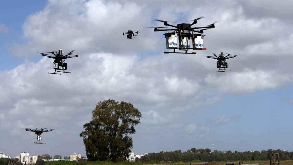 Drones de reparto en Hadera (Israel)