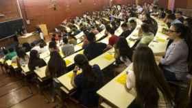Imagen de archivo de un aula universitaria.