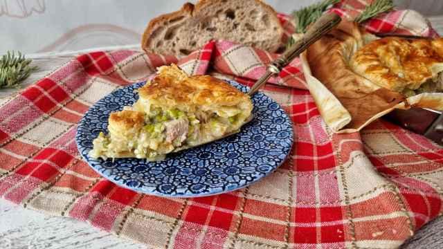Pastel de cerdo y verduras estilo Pot Pie