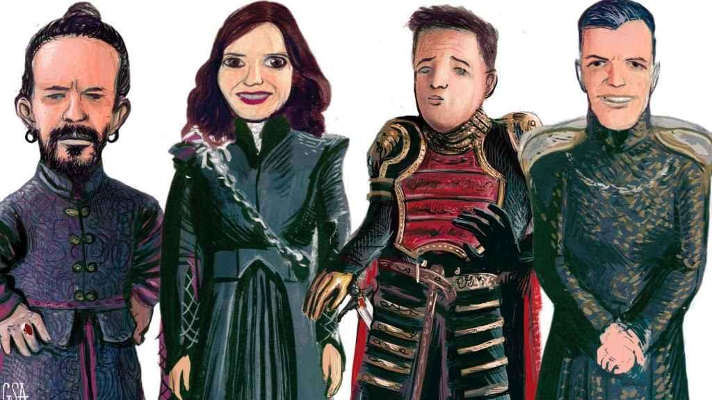 De izquierda a derecha: Tyrion Iglesias, Daenerys Ayuso, Jaime Errejón y Cerseis Sánchez.